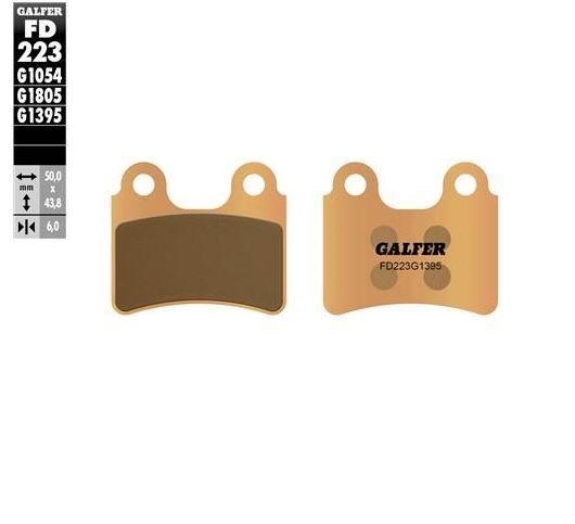 GALFER FD223 GOLD FRONT PADS - SINTED