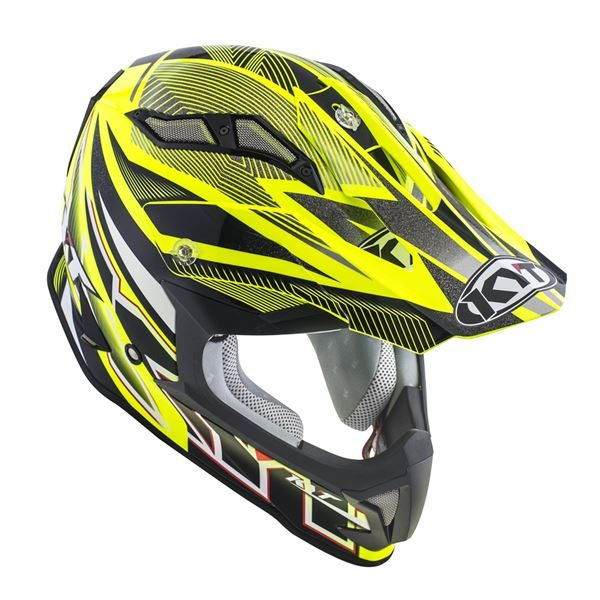 KYT STRIKE EAGLE STRIPE YELLOW FLUO 03