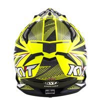 KYT STRIKE EAGLE STRIPE YELLOW FLUO 01