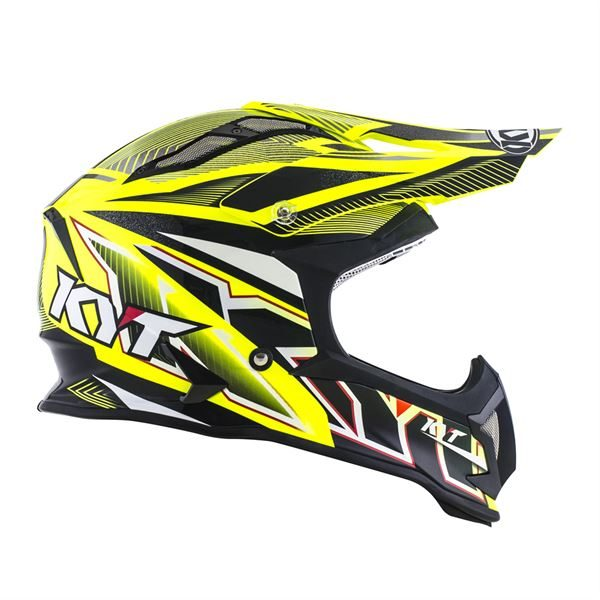 KYT STRIKE EAGLE STRIPE YELLOW FLUO 02