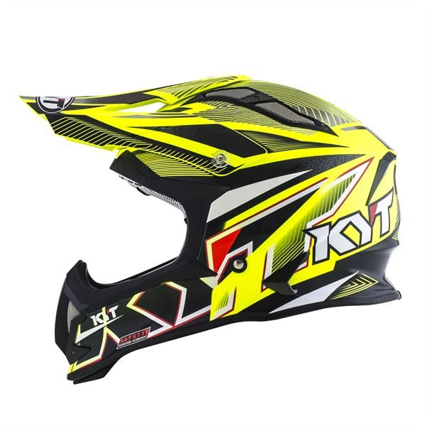 KYT STRIKE EAGLE STRIPE YELLOW FLUO 06