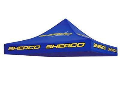 SHERCO AWNING TOP - COVER ONLY-BLUE SHERCO 3M X 3M