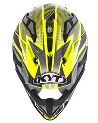 KYT STRIKE EAGLE STRIPE YELLOW FLUO 04