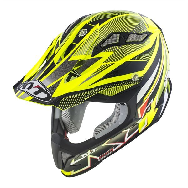 KYT STRIKE EAGLE STRIPE YELLOW FLUO 05