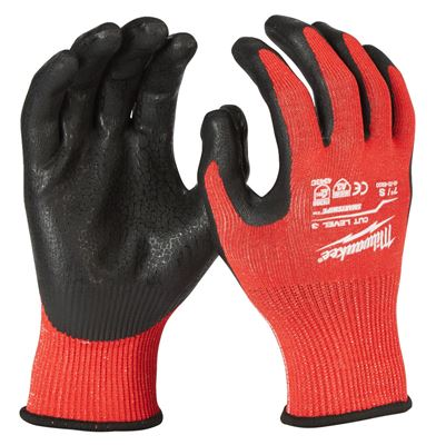 MILWAUKEE CUT LEVEL 3/C DIPPED GLOVES